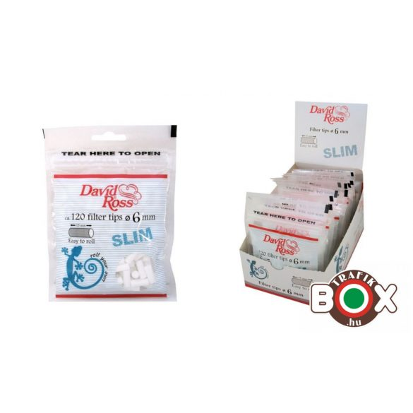 Cigarettafilter 121 David Ross 6mm slim zacskó