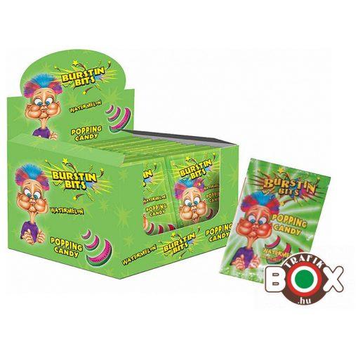 Pattogó cukor Burstin bits 7g (dinnye) 40 db/doboz