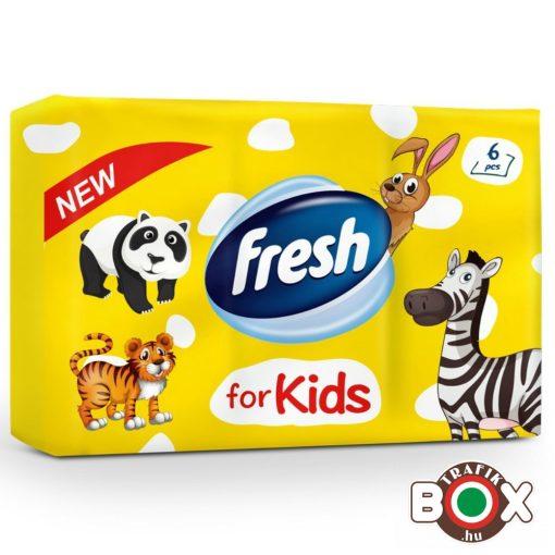 FRESH illatos papír zsebkendő 6x10db (KIDS)