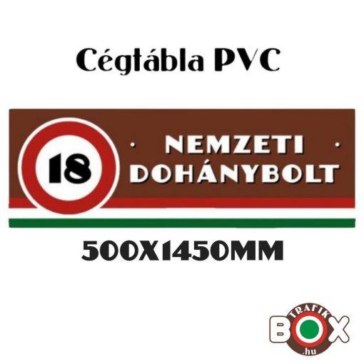 Nemzeti Dohánybolt PVC cégtábla 500x1450mm