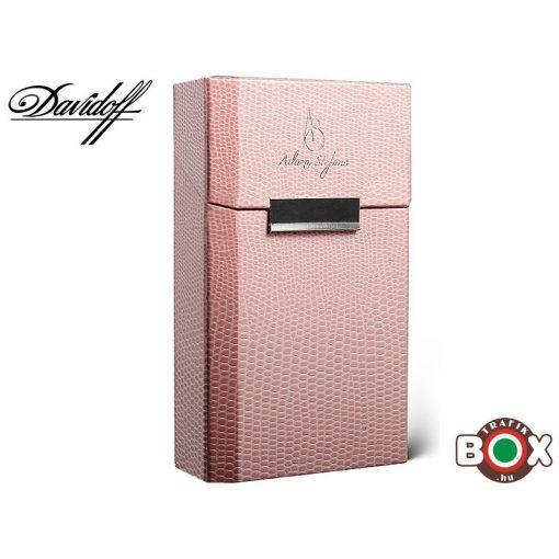 Adami Stefano Cigarettatartó doboz DAVIDOFF Lizard Pink UT