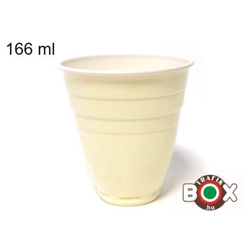 1,66-OS fehér színű műanyag pohár 100 db-os