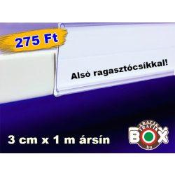 ALUL ragasztós Ársín 30mm x 1000mm, Átlátszó