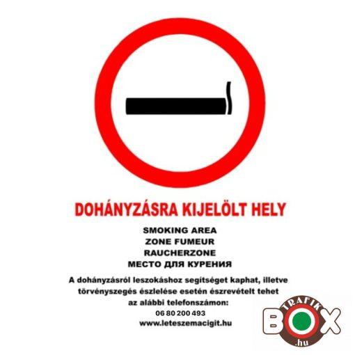 Dohányzásra kijelölt hely matrica