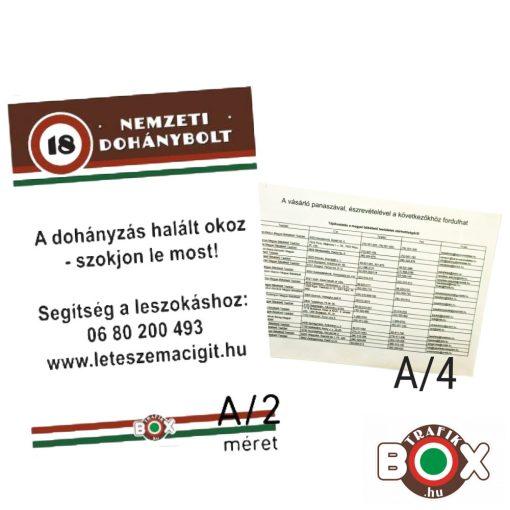 ND Kötelező fogyasztóvédelmi plakátcsomag
