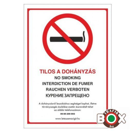 Tilos a dohányzás matrica