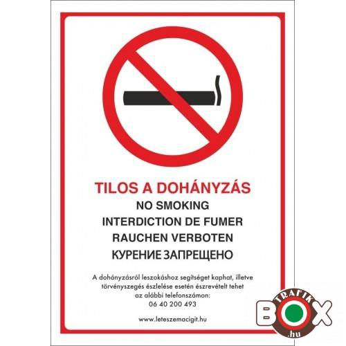 Szinte minden zárt légterű helyen tilos a dohányzás