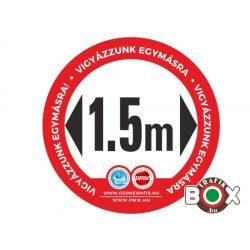 Padlómatrica lépésálló 40 cm (2 m távolság)piros