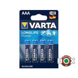 VARTA LR03 AAA LONGLIFE POWER ceruzaelem 4 db/bliszter