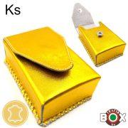 Bőr Valódi Cigaretta tartó 80' (Kézzel készített) Arany 025