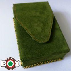 Bőr Valódi Cigaretta tartó 80' (Kézzel készített) zöld 047
