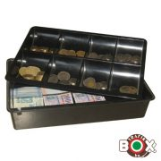 Pénztaró-bankjegytartó fekete műanyag 0657-AT