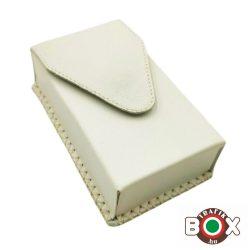 Bőr Valódi Cigaretta tartó 100's (Kézzel készített) fehér 090