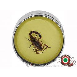 Dohányőrlő Fém Remo fluoreszkáló Skorpió 3 részes 5 cm 11162