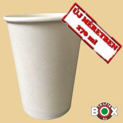 Papírpohár Cappucinós Fehér 270 ml 50 db-os
