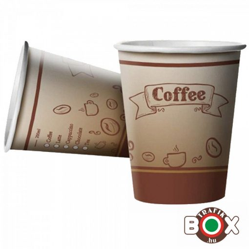 Papírpohár Cappucinós Babos Design 200ml 50 db-os