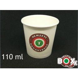 Papírpohár kávés Nemzeti Dohánybolt 110ml 50 db-os