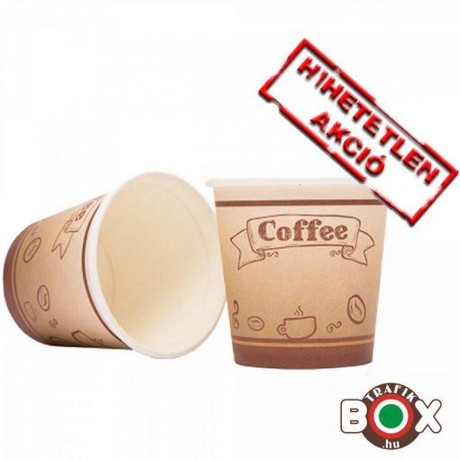 Papírpohár kávés Babos Design 150ml 50 db-os