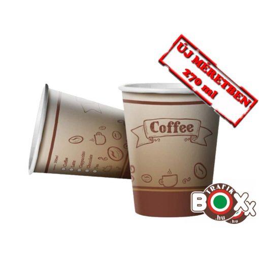 Papírpohár kávés Babos Design 270 ml 50 db-os