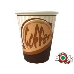 Papírpohár kávés Csíkos Design 150ml 50 db-os