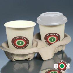 Papír pohártartó - 2 poharas 110 db-os