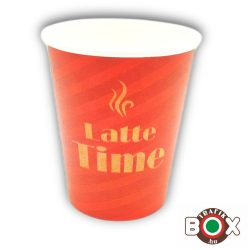 Papírpohár Latte Time Design 300ml 50 db-os