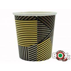Papírpohár kávés Csíkos Design 110ml 50 db-os