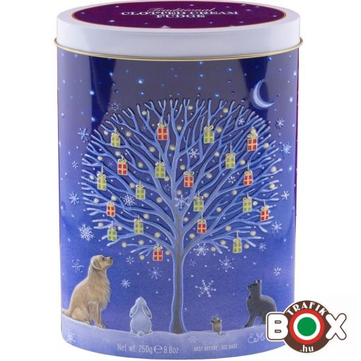 Gardiners Christmas Tree of Gifts Tin – Clotted Cream Fudge, Limitált 250g