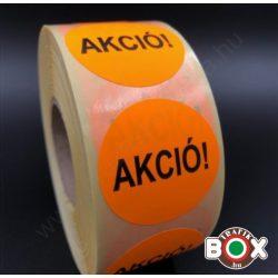 Körcimke 40mm fluo Narancs színben AKCIÓ felirattal 1000 db