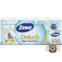 Zewa Papírzsebkendő 10×10 db 3 rétegű Deluxe˛/Kék, Adventure (ellenáll a mosásnak)