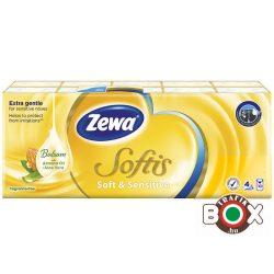 Zewa Papírzsebkendő 10×9 db 4 rétegű Soft & Sensitive (ellenáll a mosásnak)