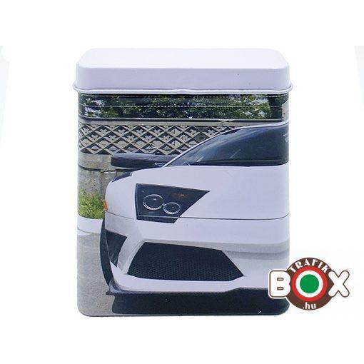Cigarettadoboz Fém Sportautó Fehér 170201-14