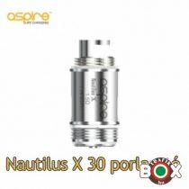 Porlasztó Aspire Nautilus X30 U-tech 1,5 Ohm KANTHAL (5db-os)