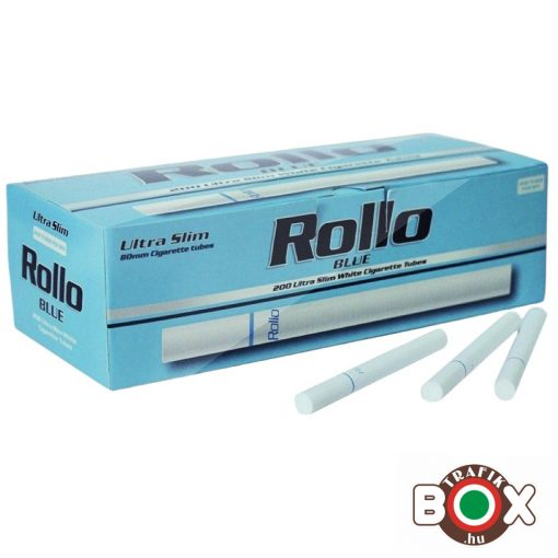 ROLLO Blue ultra Slim CIGARETTAHÜVELY (200 db-os)