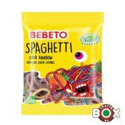 Bebeto Spaghetti Rainbow vegyesgyümölcs ízű gumicukor (eper, alma, málna) 6x12 80 g