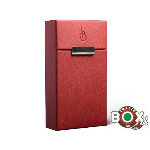 Adami Stefano bőrbevonatú Elegance Red 100 AS print Cigarettatartó doboz
