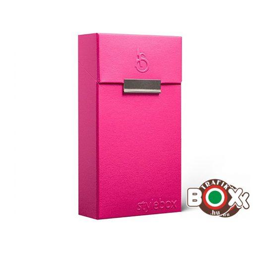 "Adami Stefano Cigarettatartó doboz 100-as ML Electric Pink ""Stylebox"" Embossed"