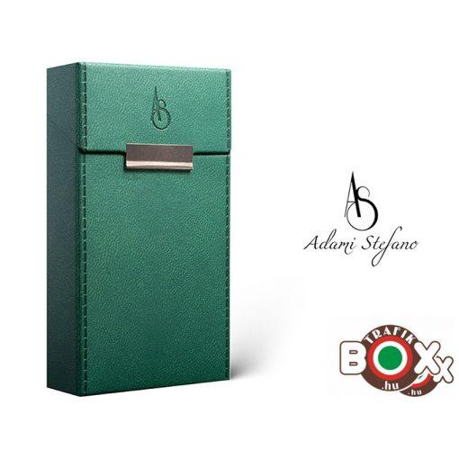 Adami Stefano bőrbevonatú Elegance British Green 100 Cigarettatartó doboz