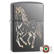 28645 Zippo öngyújtó-Black Ice ló minta
