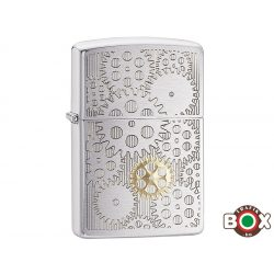 Zippo ÁRHARCOS Gears (200 Brushed Chrome, Auto Two Tone) (29907)