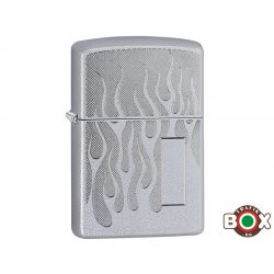 Zippo ÁRHARCOS Zippo Logo (205 Satin Chrome, Auto Engrave) (29910)