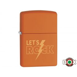 Zippo ÁRHARCOS Lets Rock (231 Orange Matte, Laser Engrave) (29925)