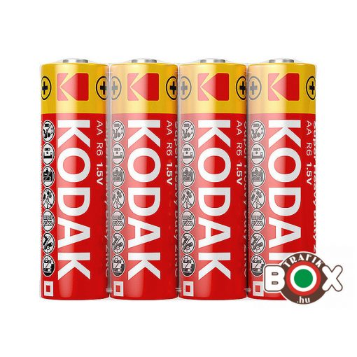 KODAK Extra Zinc Féltartós Ceruza Elem AA (1,5V) Shrink S4
