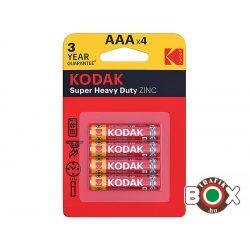 KODAK Extra Zinc Féltartós Mikro Elem AAA (1,5V) B4 4 db/bliszter