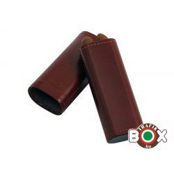 Szivartok barna bőr 2 db 17 cm-es szivar tárolására