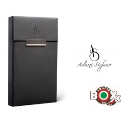 Adami Stefano bőrbevonatú Slim Elegance Black AS printed Cigarettatartó doboz