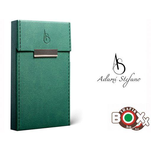 Adami Stefano bőrbevonatú Slim Elegance British Green Cigarettatartó doboz