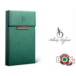Adami Stefano bőrbevonatú Slim Elegance British Green Stitched Sides Cigarettatartó doboz