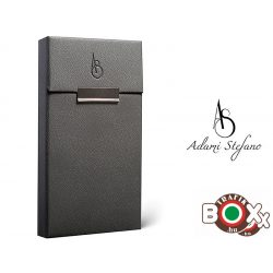 Adami Stefano bőrbevonatú Slim Elegance Grey AS Printed Cigarettatartó doboz
