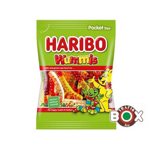 HARIBO Happy Wummis Kukacok vegyes gyümölcs ízű Gumicukor 100 g